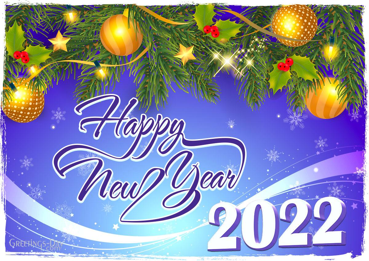 Happy New Year 2022 card